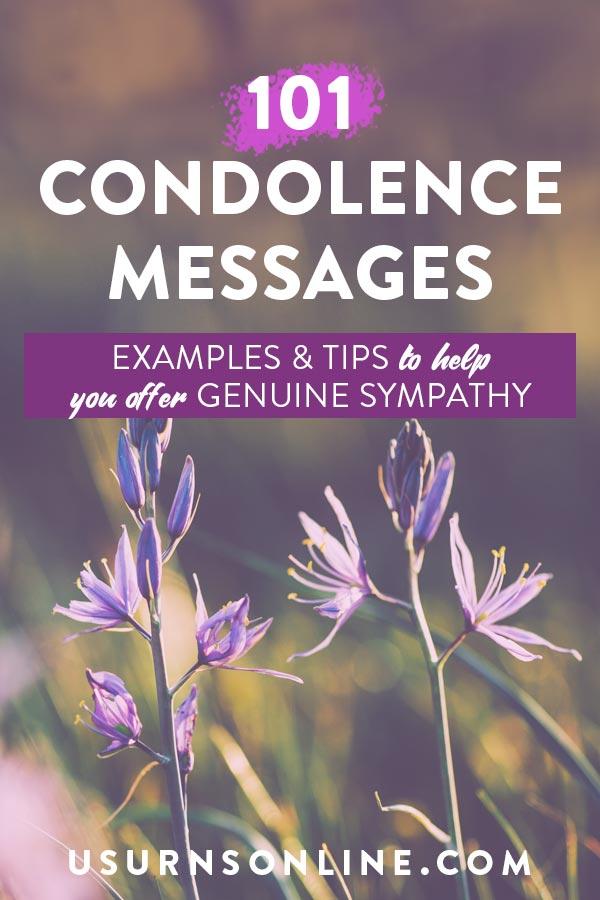 101 Condolence Messages