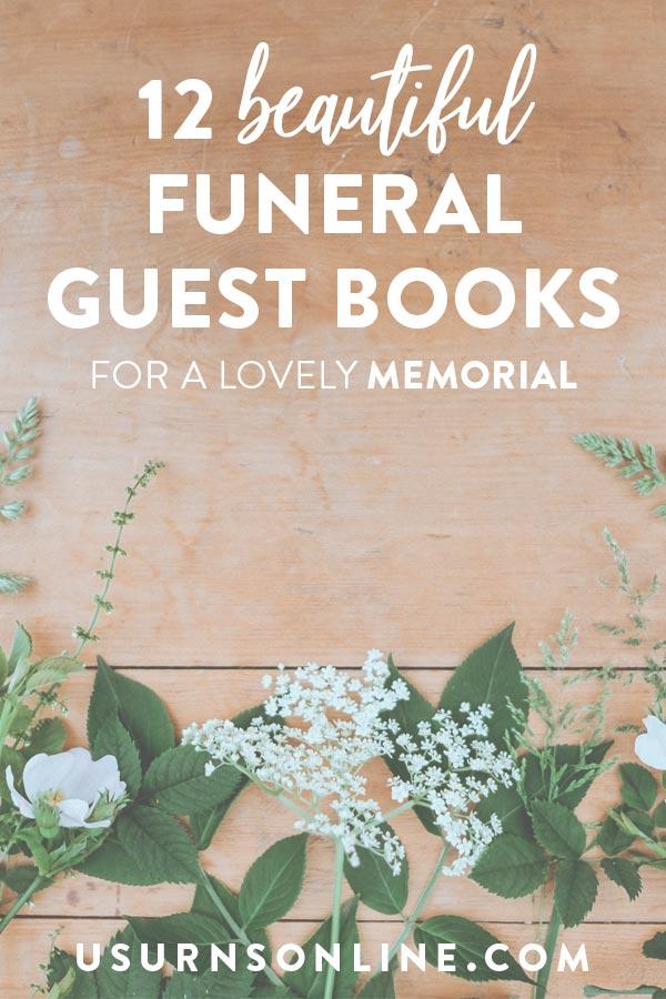 Beautiful Funeral Guest Books