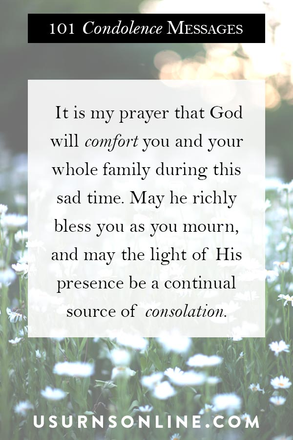 Offering Condolences to those who grieve