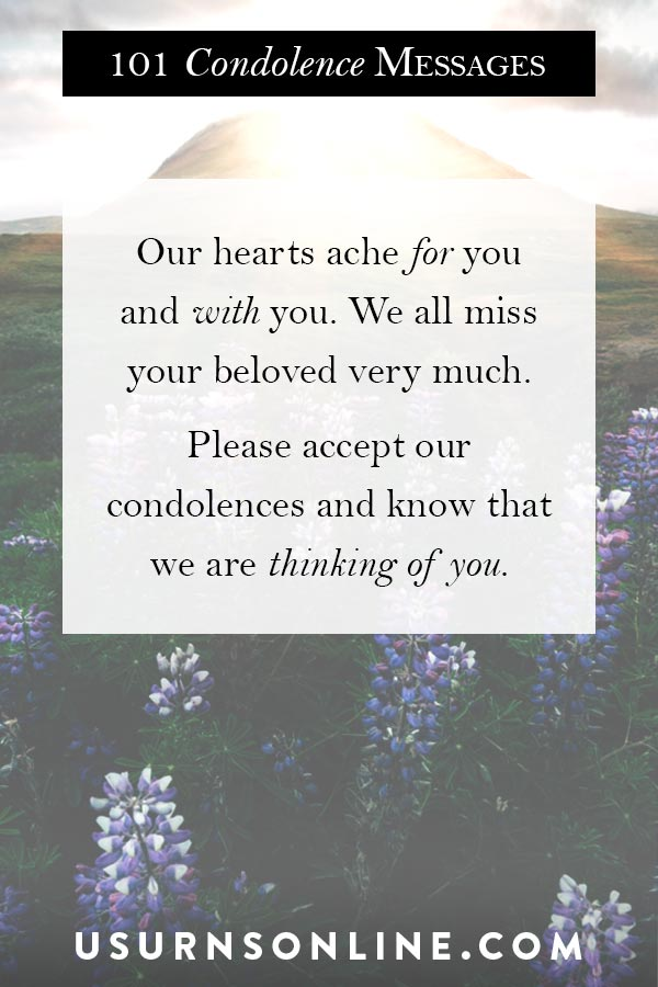 Condolence Messages to Send with Sympathy Gifts