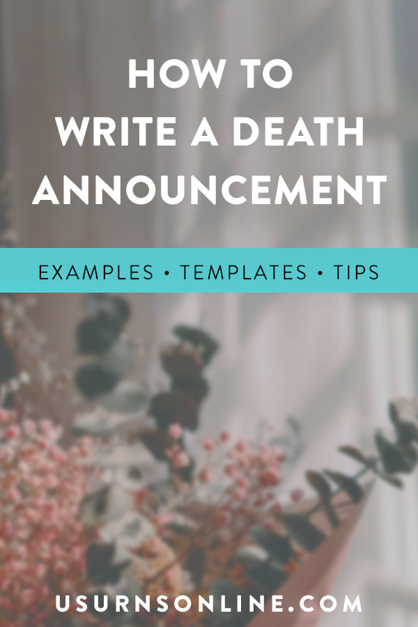 How to Write a Death Announcement