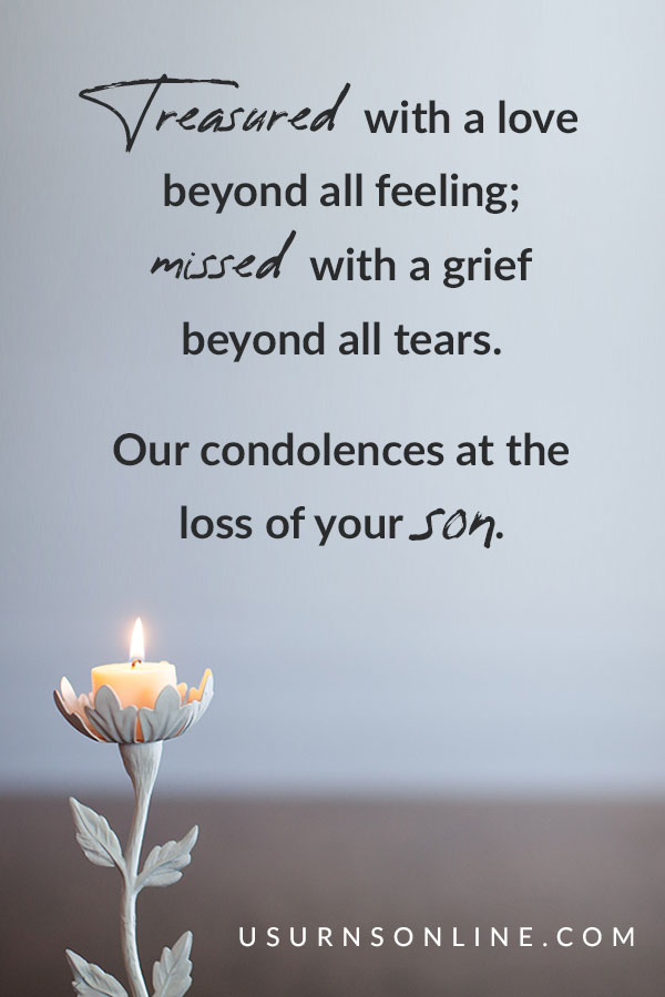 Loss of Son - Sympathy Quote Images