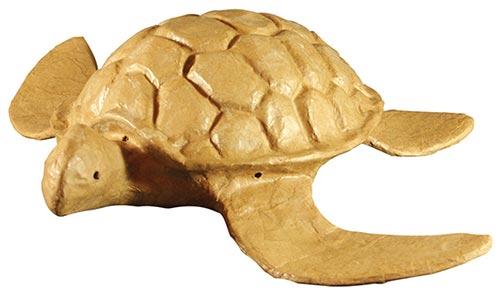 Biodegradable paper turtle cremation urn