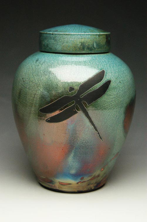 Dragonfly cremation urn
