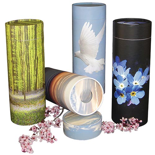 Biodegradable scattering urn tubes