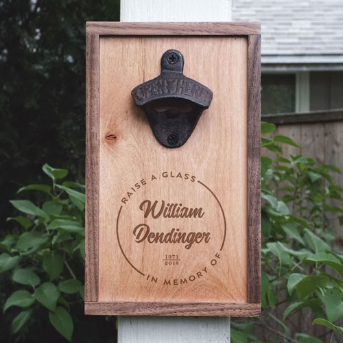 Bottle Opener Memorial Idea - Raise a Glass in Memory