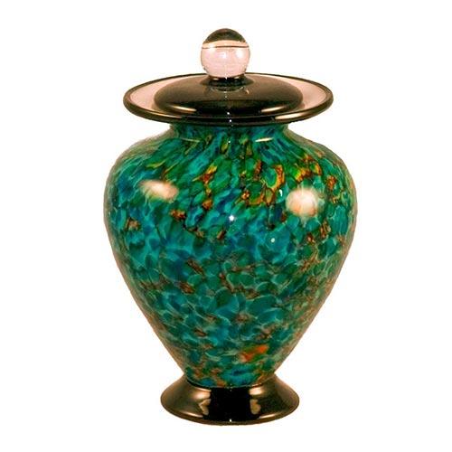 Hand blown glass keepsake urn