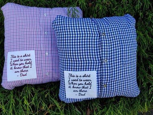 Handmade custom memory pillow
