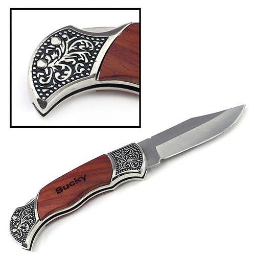 Custom-engraved vintage-style pocket knife