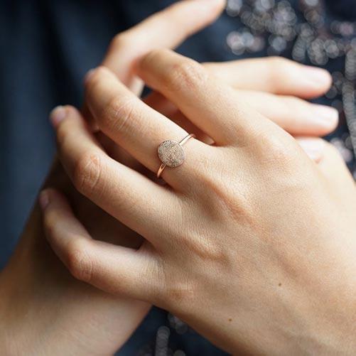 Personalized Thumbprint Ring Keepsake Gift