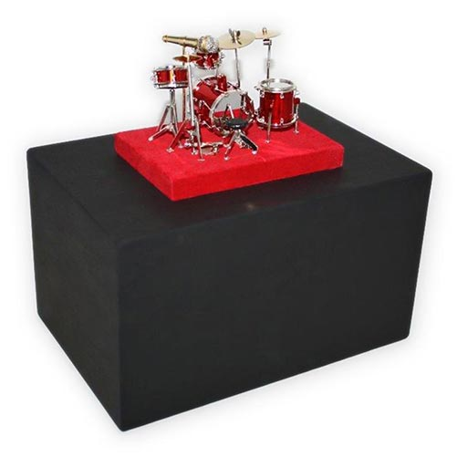 Drum set themed urn with base