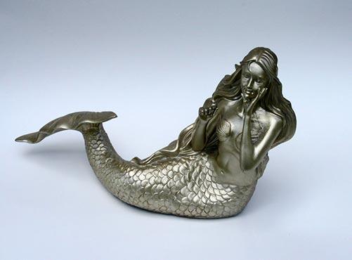 Resin mermaid urn