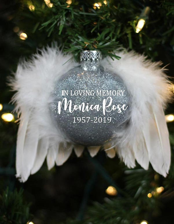 Angel Wings Memorial Ornament