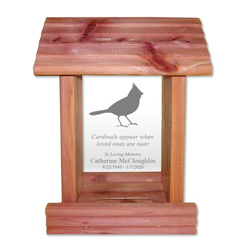Cardinal Memorial Bird Feeder