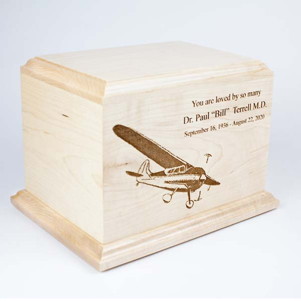 Airplane Cremation Urn