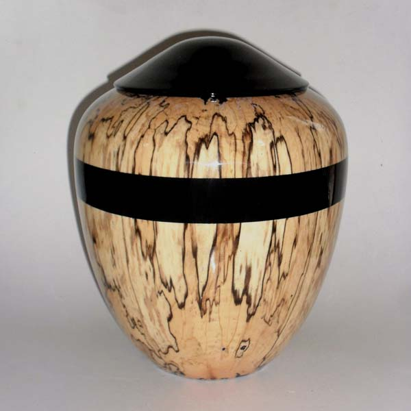 Hand Turned Wood Urn