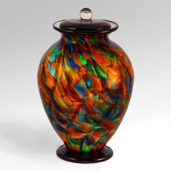 "Glass Urn in ""Autumn"" Colors"