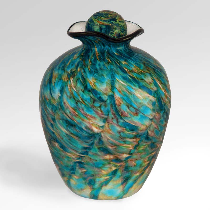 Aegean Glass Urn for Ashes