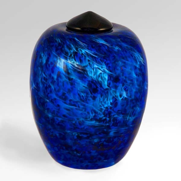 Blue Glass Cremation Urn