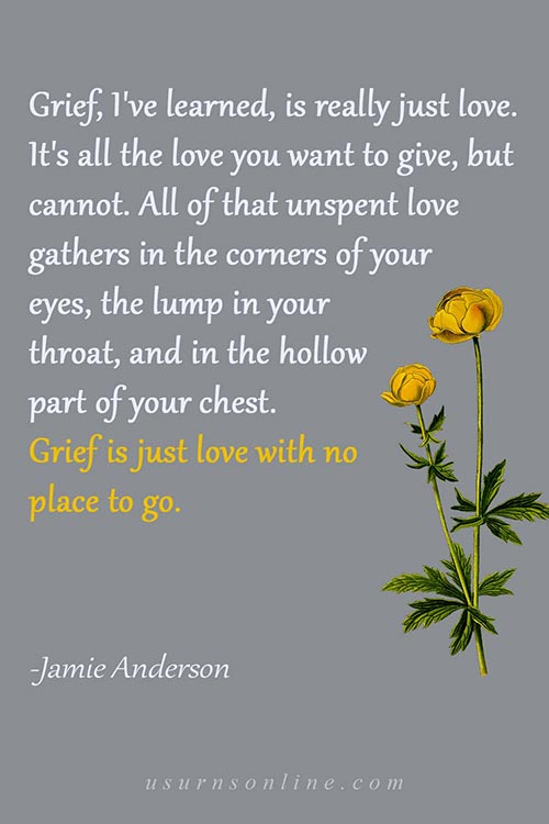 Grief Quotes by Jamie Anderson