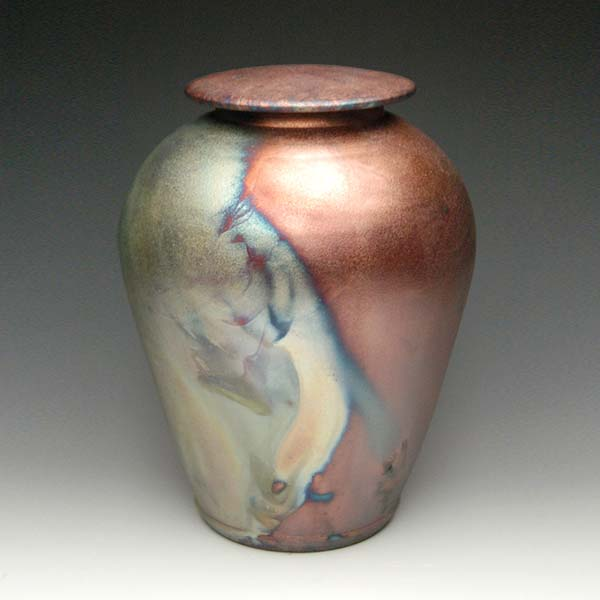 Raku Pottery Cremation Urn