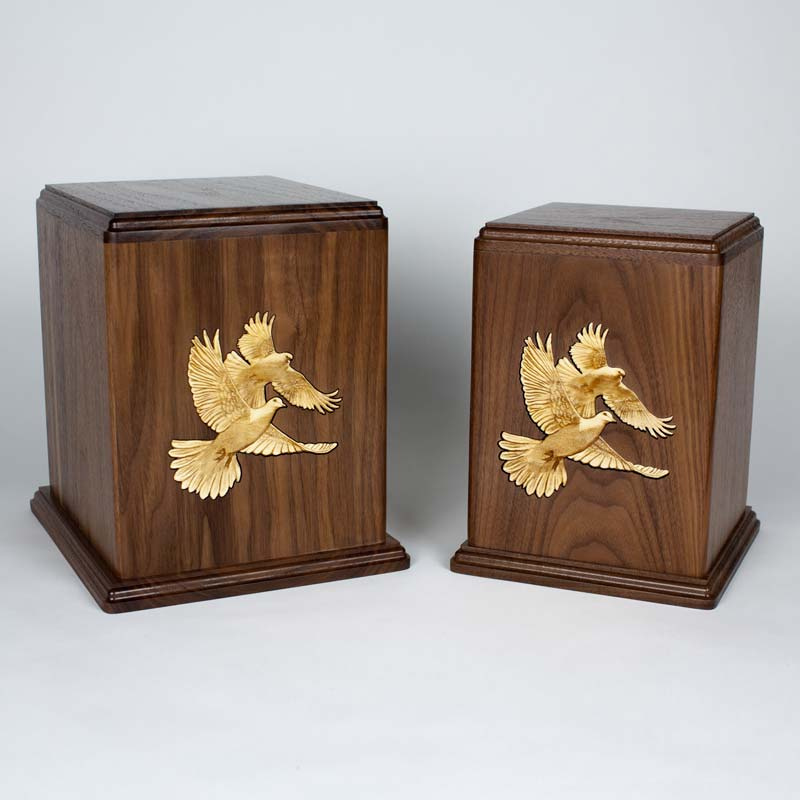 Lovebirds Urn - Single & Companion Urn