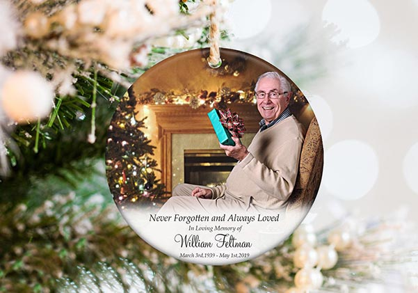Loved One in Heaven Photo Ornament