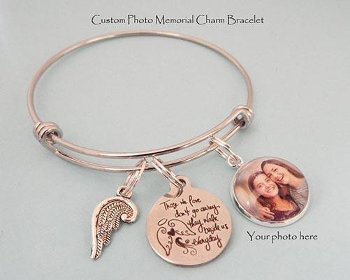 Photo memorial bracelet