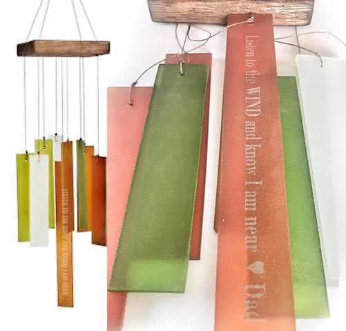 Colorful custom wind chime