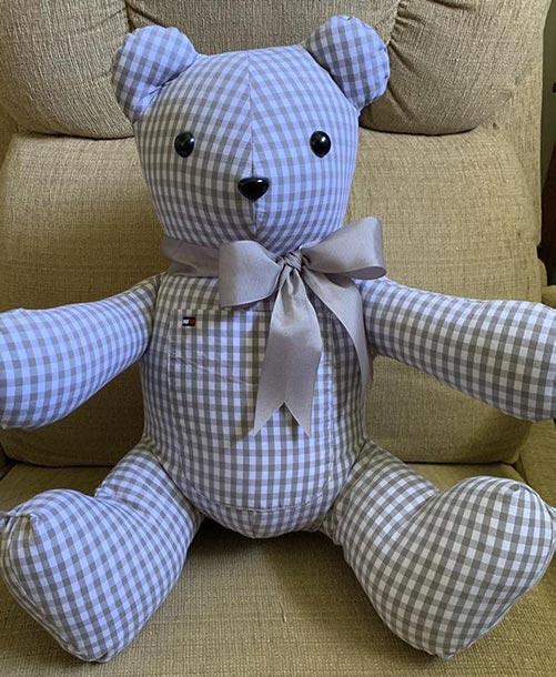 Memory bear made from shirt