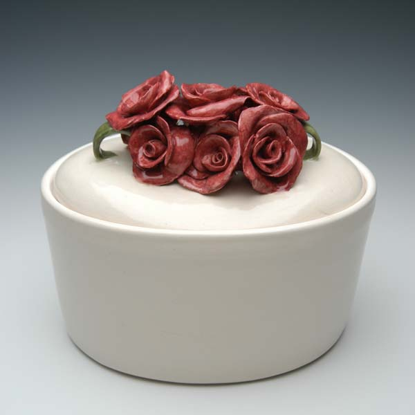 Rose Ceramic Art Urn