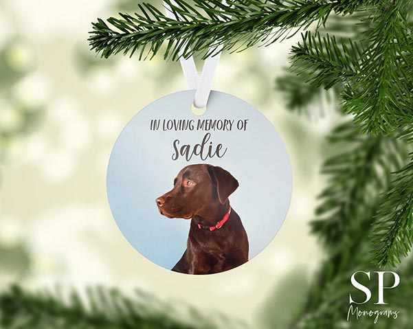 Memorial Ornament for Beloved Pet