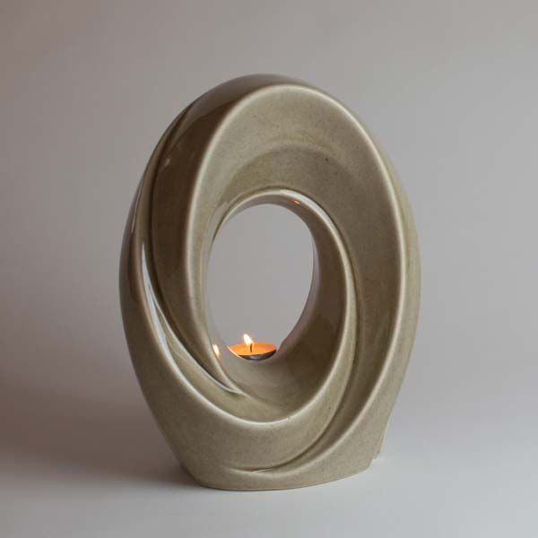 Sculpture Art Cremation Urn with Candle