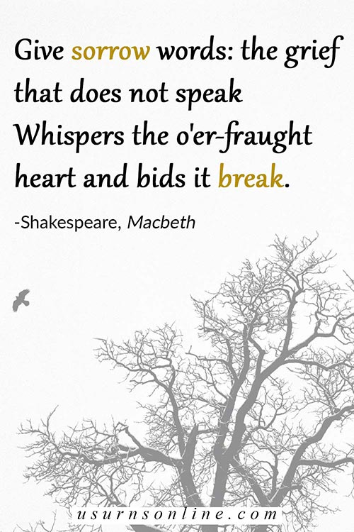 Shakespeare, Macbeth- Quotes on Greiving