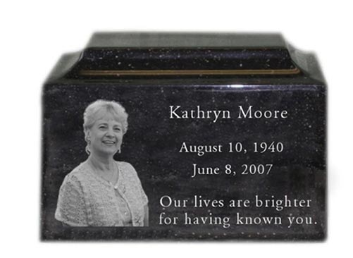 Personalized Engraved Photo Urn