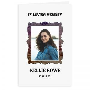 Free Word Template Funeral Program Antique Picture Frame Theme