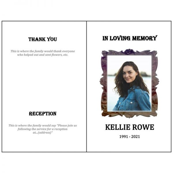 Front and Back Page (Funeral Flyer Bifold)