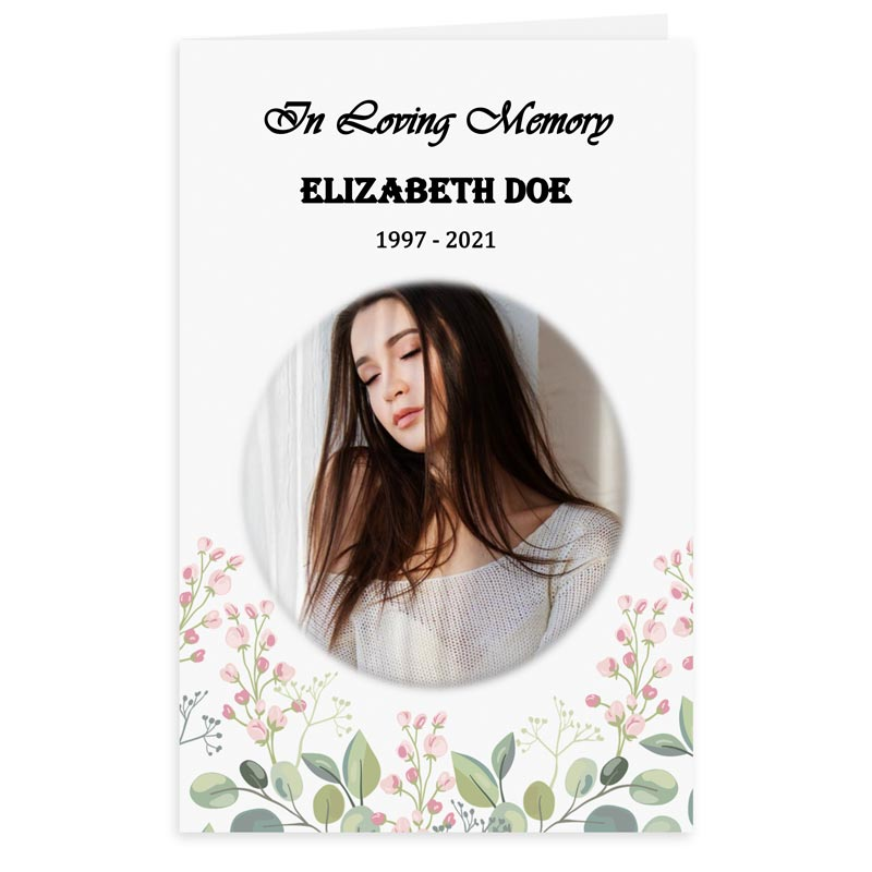 Free Word Template Funeral Program Blossoms Theme