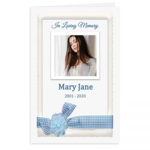 Free Word Template Funeral Program Blue Ribbon Theme