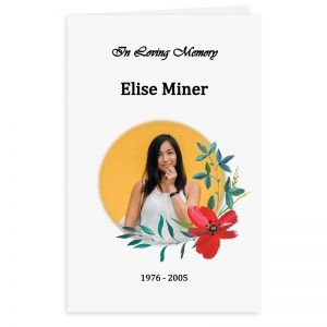 Free Word Template Funeral Program Red Flower Theme
