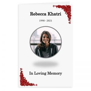 Free Word Template Funeral Program Scarlet Flowers Theme