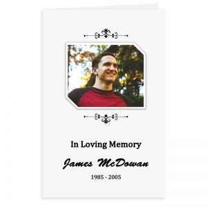 Free Word Template Funeral Program Simple Ornamentation Theme