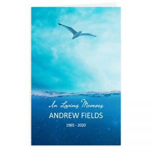 Free Word Template Funeral Program Soaring Seagull Theme