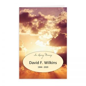 Free Word Template Funeral Program Sunset Theme