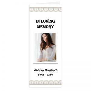 Free Word Template Vertical Funeral Program Elegant Theme