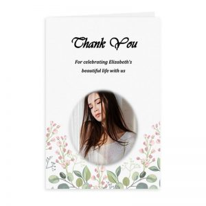 Free Word Template Thank You Card Blossoms Theme