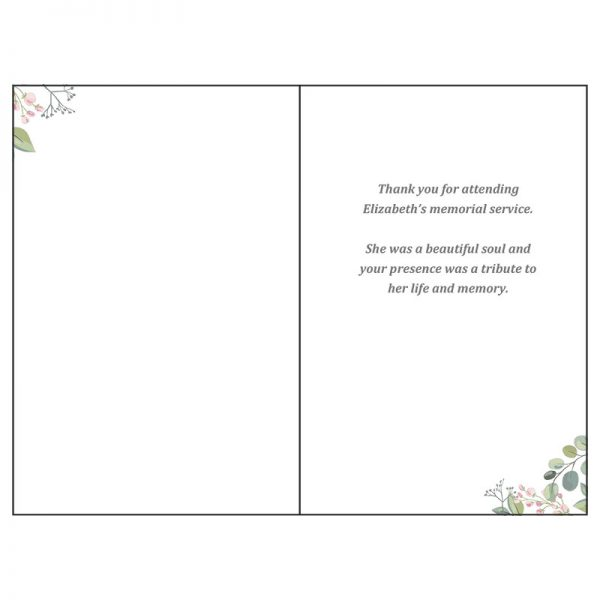 Thank You Card - Inside (Blossoms)