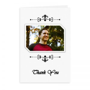 Free Word Template Thank You Card Simple Ornamentation Theme