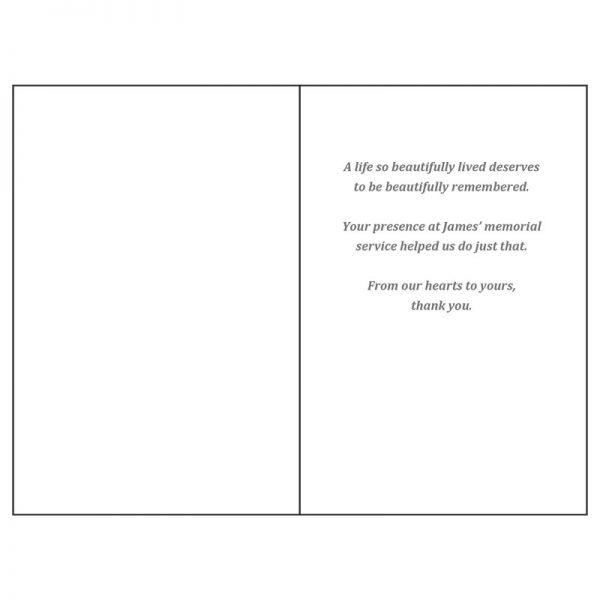 Thank You Card - Inside (Simple Ornamentation)