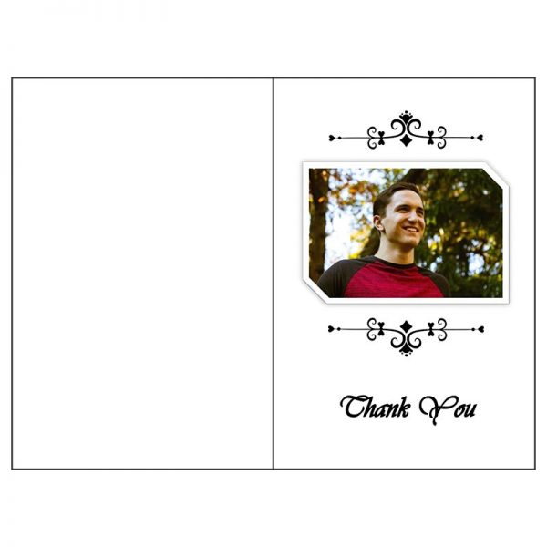 Front and Back Page (Funeral Card Bifold)
